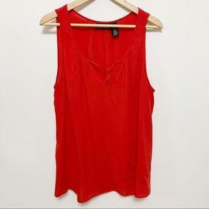 DKNY Red Sleeveless Blouse